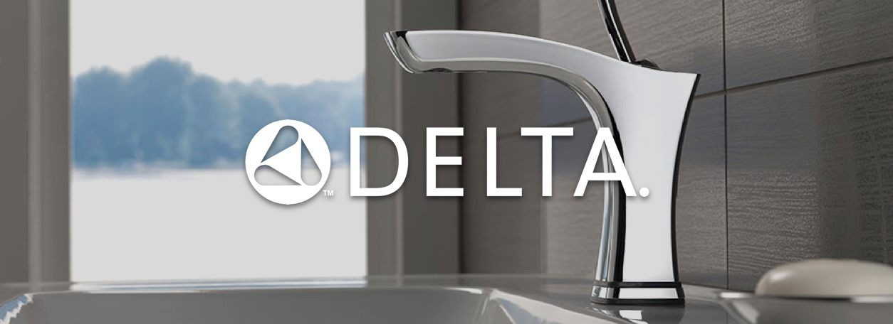 Delta logo with bathroom faucet