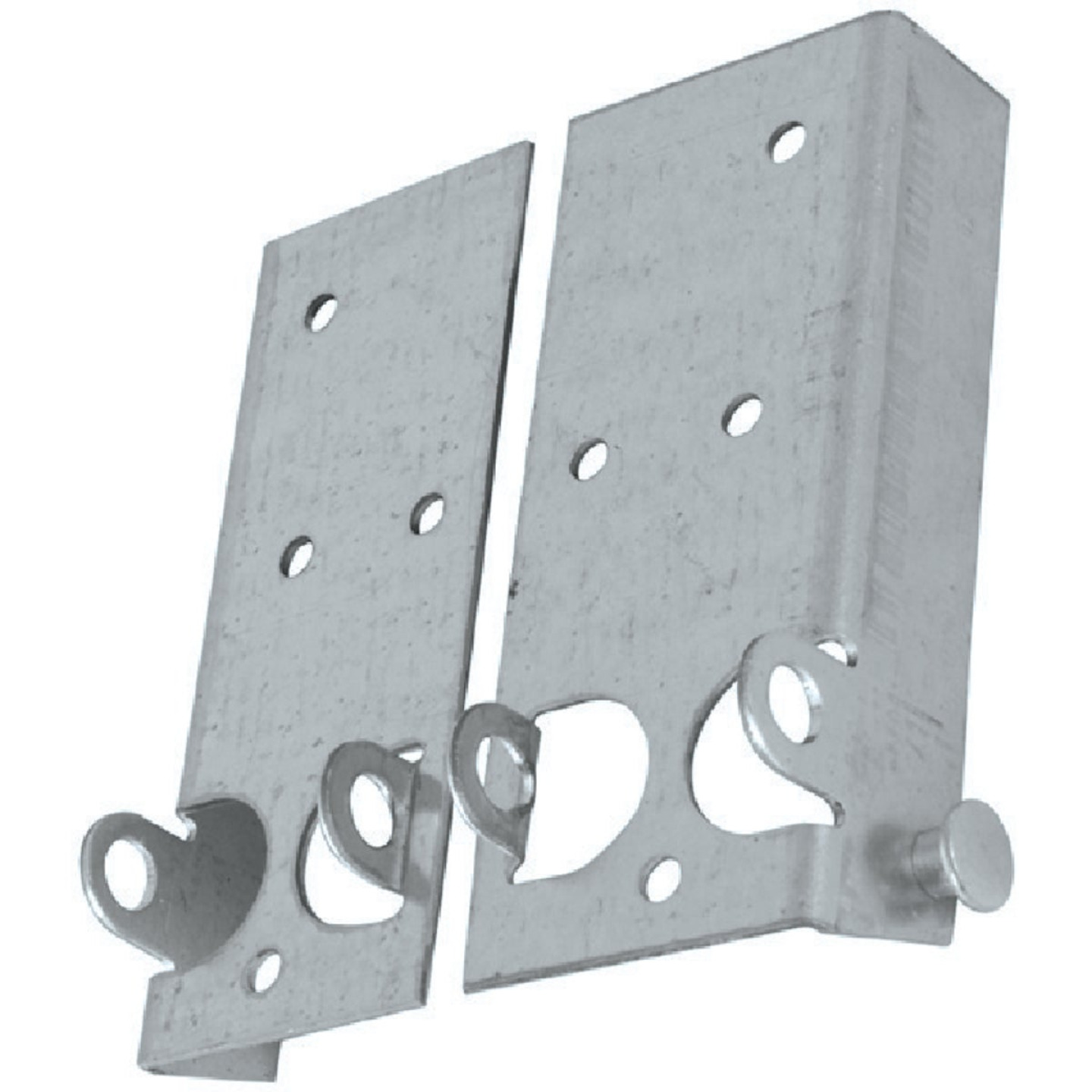 National Galvanized Steel Right & Left Hand Bottom Lift & Roller Bracket For Wood & Metal Garage Door Image 2