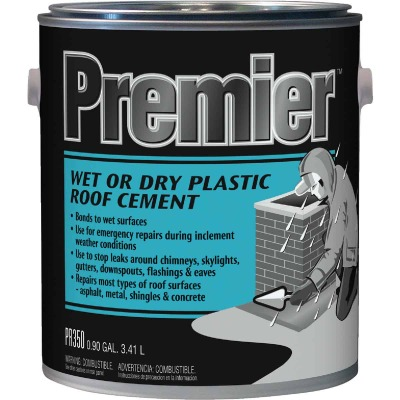 Premier 350 1 Gal. Wet or Dry Plastic Roof Cement