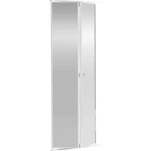 Colonial Elegance 36 In. H x 80-1/2 In. H White Framed Mirrored Bifold Door