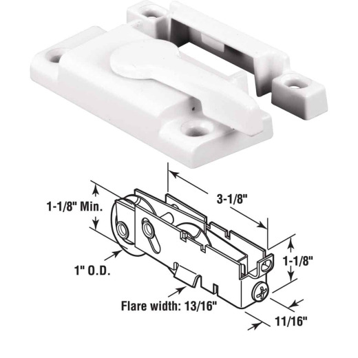 Prime-Line Vinyl Framed Sliding Window Sash Lock
