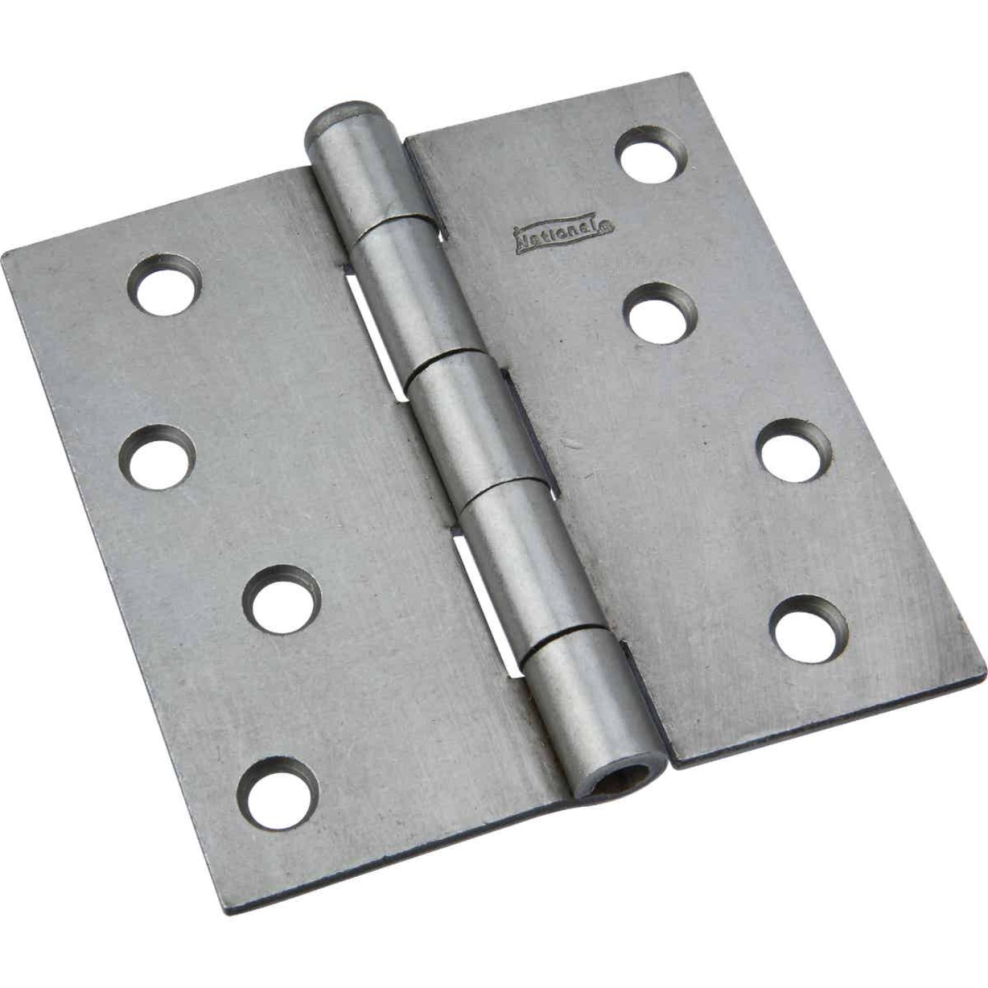 National 4 In. Square Plain Steel Broad Door Hinge Image 1