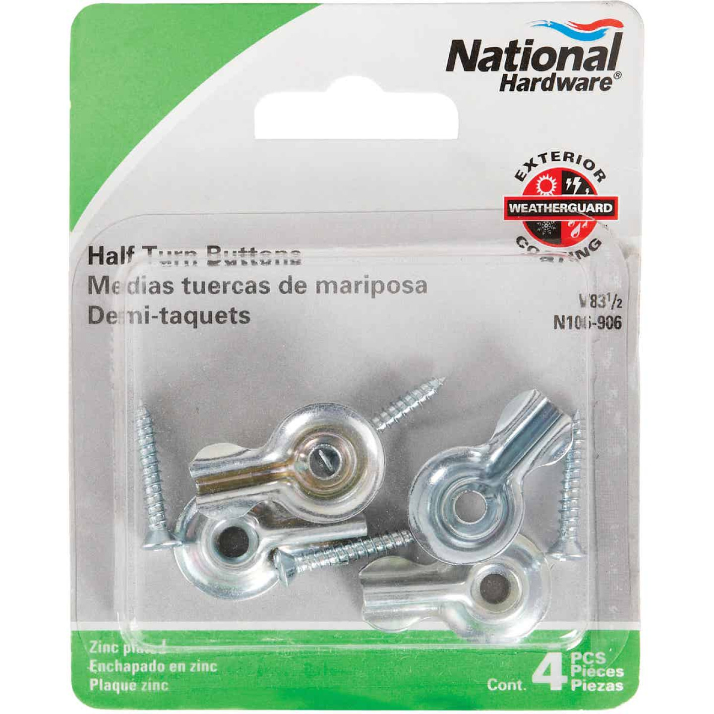 National Half Turn Button (4 Pack) Image 2