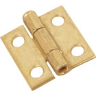 National 1 In. Brass Loose-Pin Narrow Hinge (2-Pack) Image 1