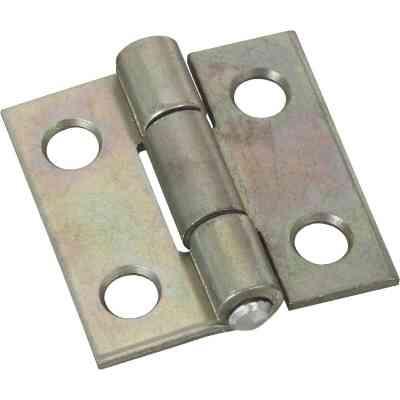 National 1 In. Zinc Tight-Pin Narrow Hinge (2-Pack)