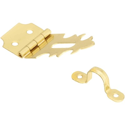 National 3/4 In. x 2-3/4 In. Solid Brass Decorative Hasp With Hook