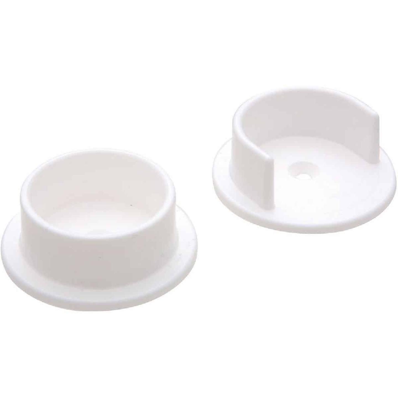 National 1-3/8 In. Plastic Closet Rod Socket, White (2-Pack) Image 1
