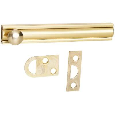 National Gallery Series 4 In. Polished Brass Door Surface Bolt