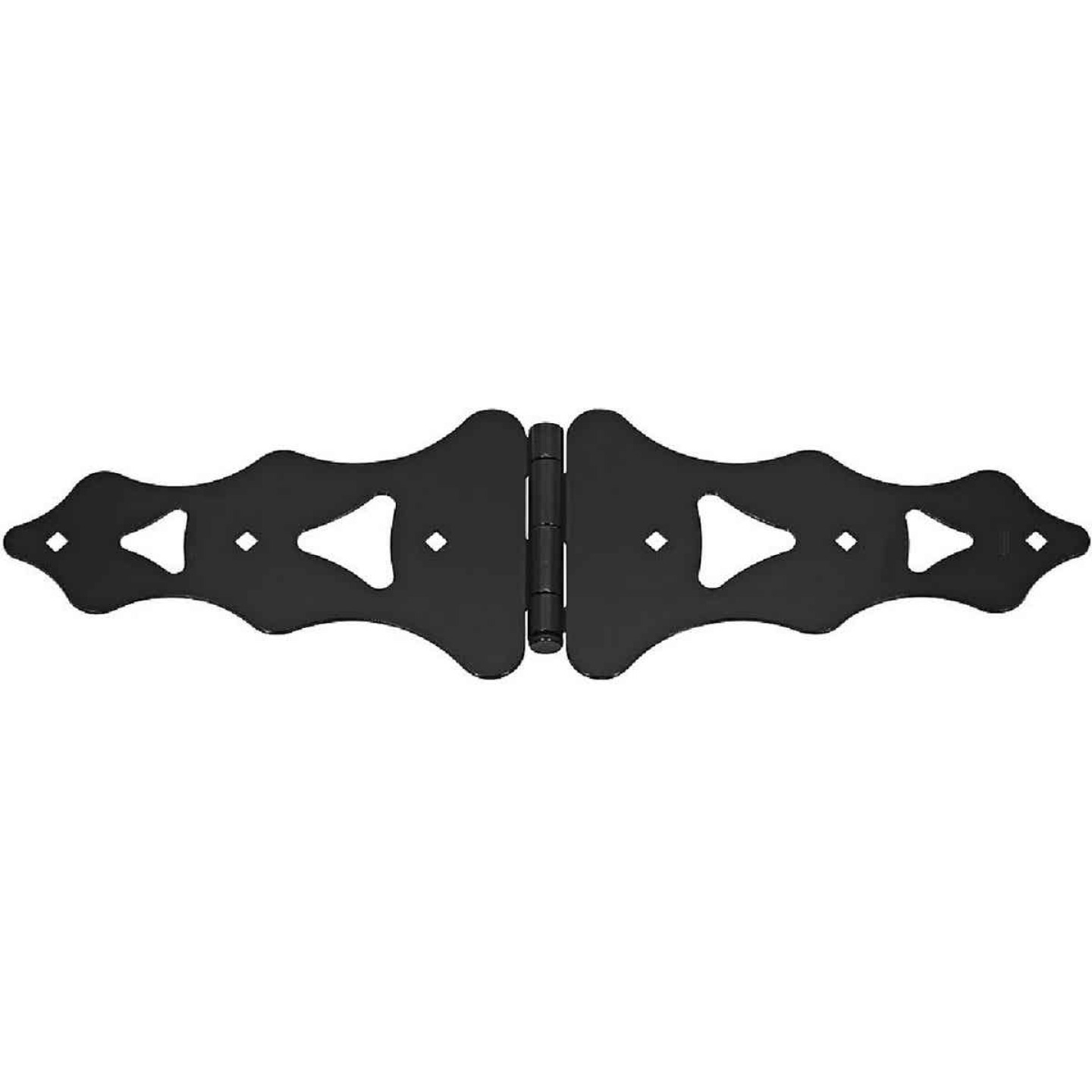 National 10 In. Black Ornamental Strap Hinge Image 1