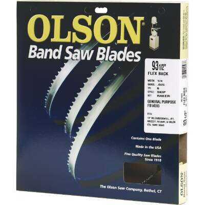 Olson 93-1/2 In. x 1/4 In. 6 TPI Skip Flex Back Band Saw Blade