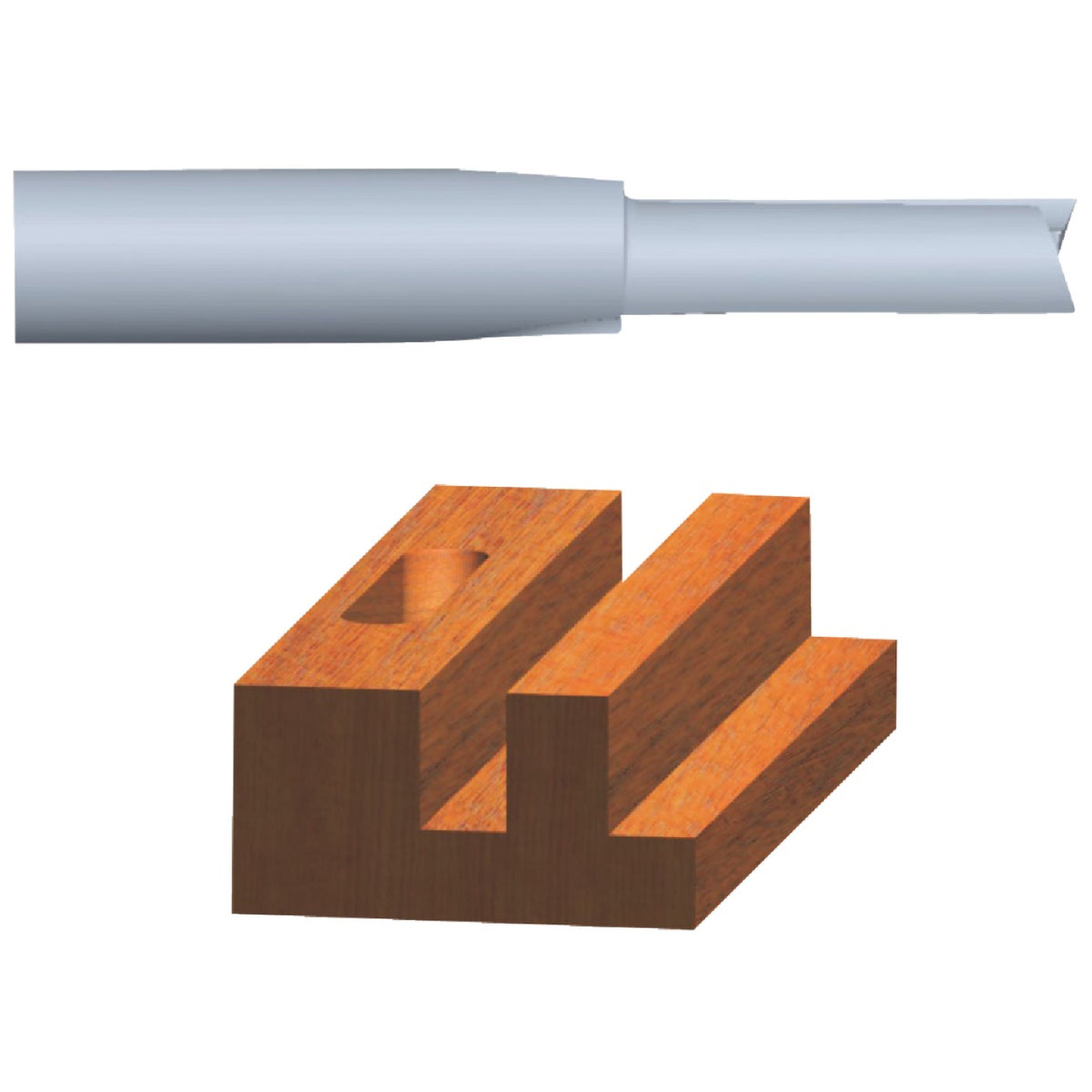 Vermont American Carbide Tip 3/8 In. Straight Bit Image 1