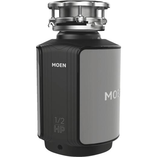 Moen 1/2 HP Stainless Steel Garbage Disposal, 4 Year Warranty