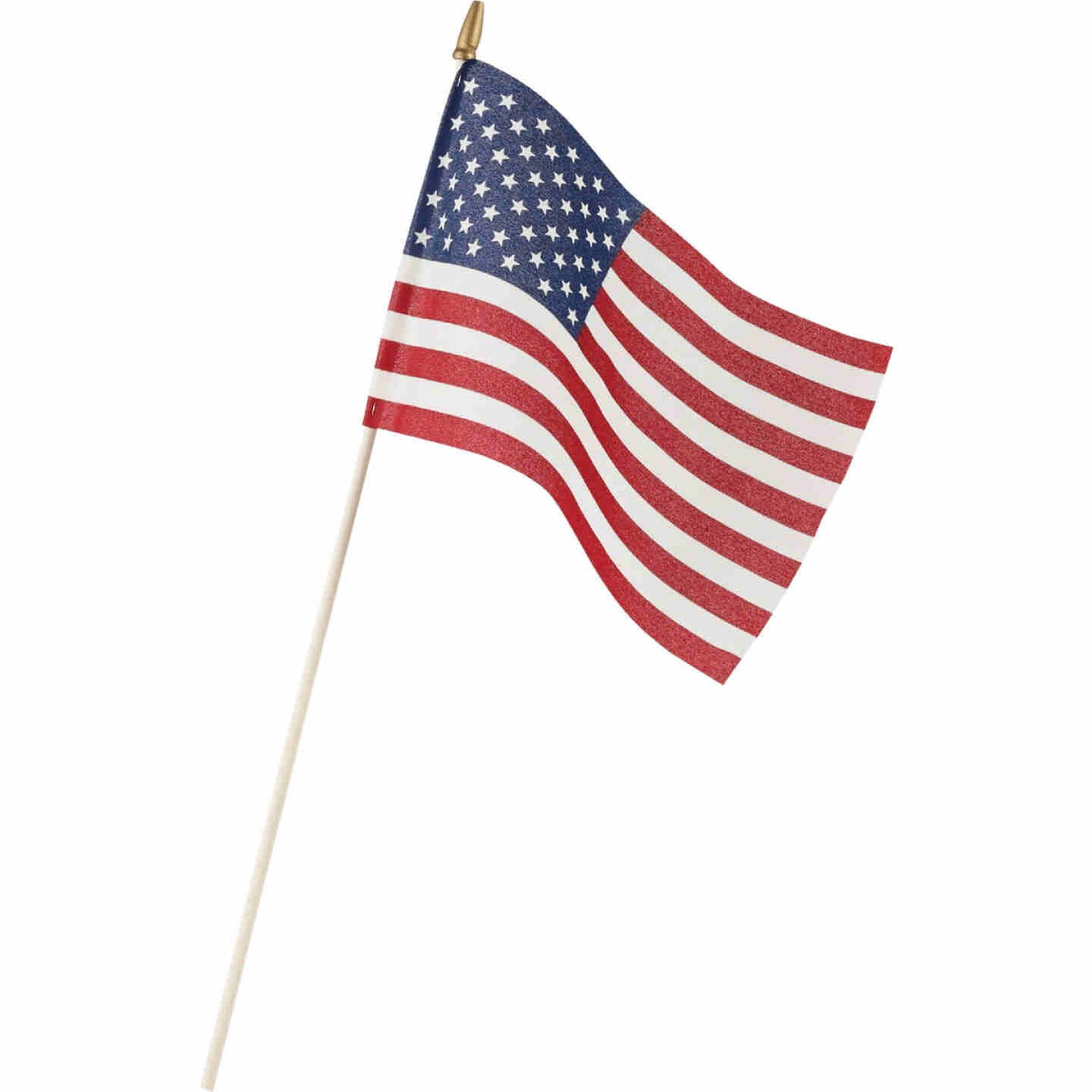 Valley Forge 8 In. x 12 In. Polycotton Stick American Flag Image 1